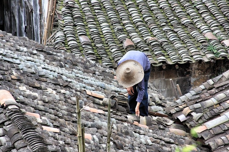 Roof repair work
